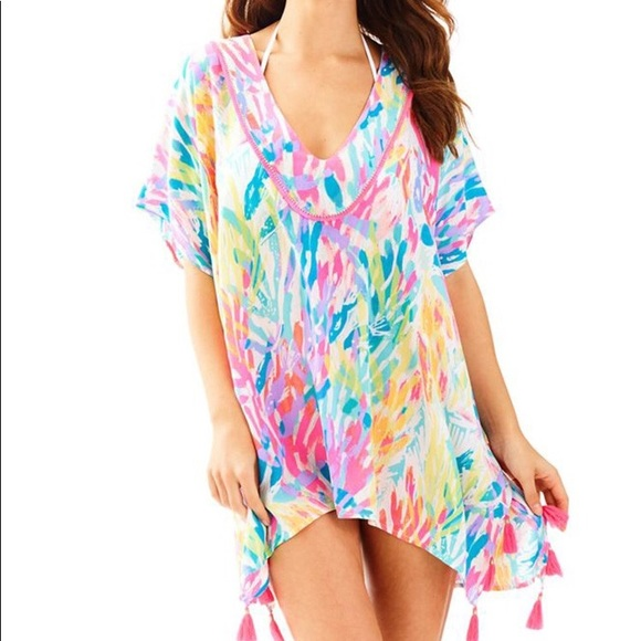 3997ec28808b3 Lilly Pulitzer Swim | El Bravo Way Coverup Tunic Sm | Poshmark